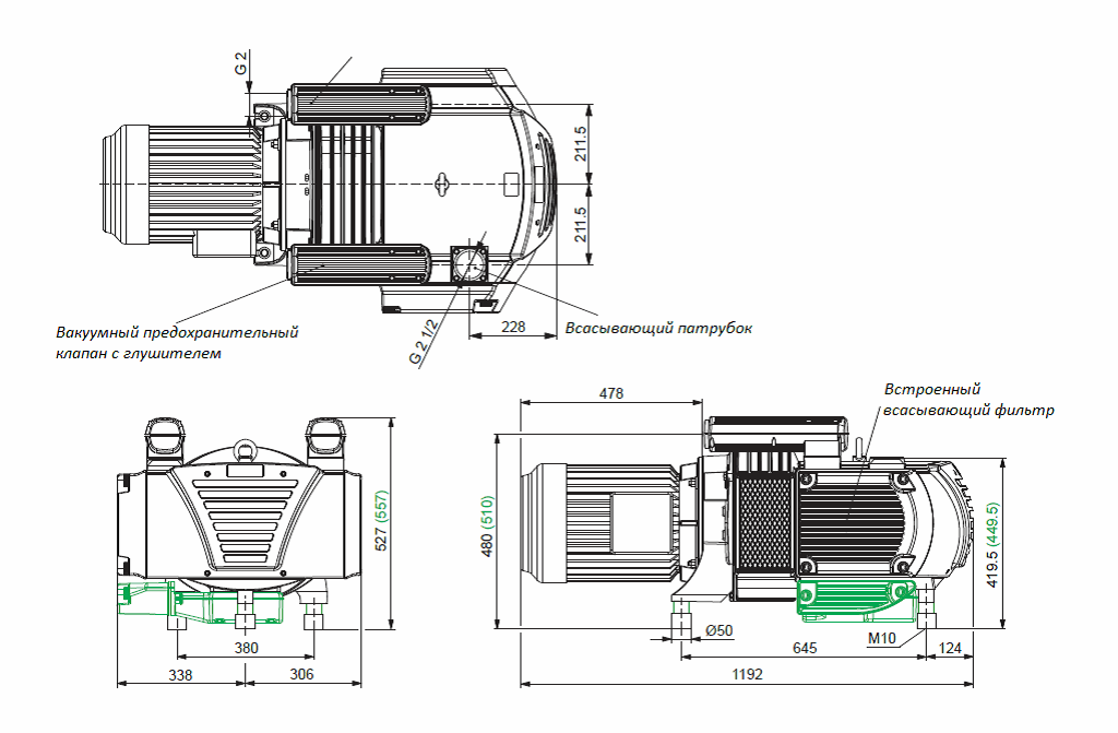 Безмасляные пластинчато-роторные насосы