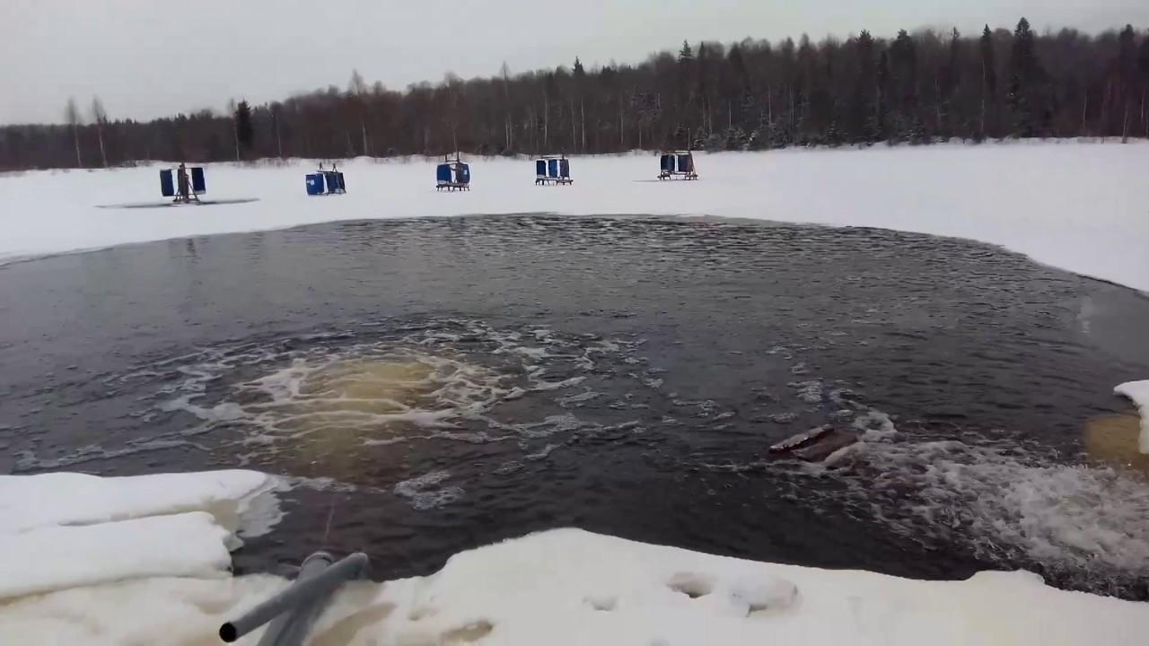 аэрации пруда зимой