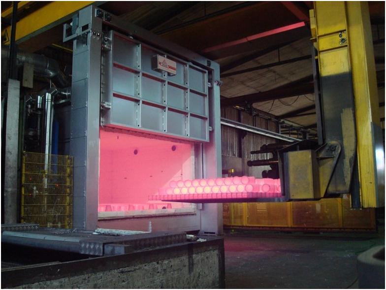 Вертикальная промышленная печь